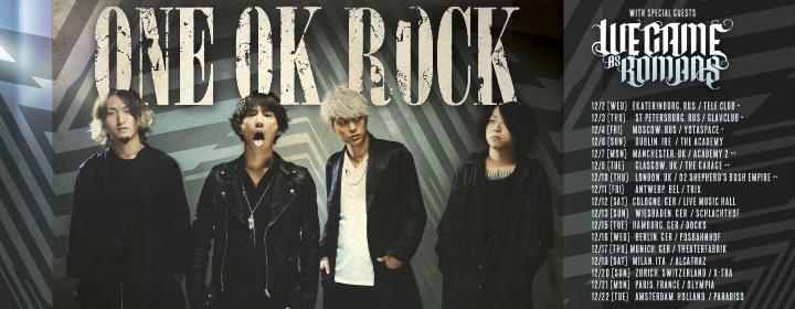 """ONE OK ROCK 2015 """"35xxxv"""" EUROPE TOUR"""